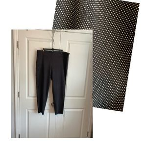 Just Be polka dot plus size pull on pants